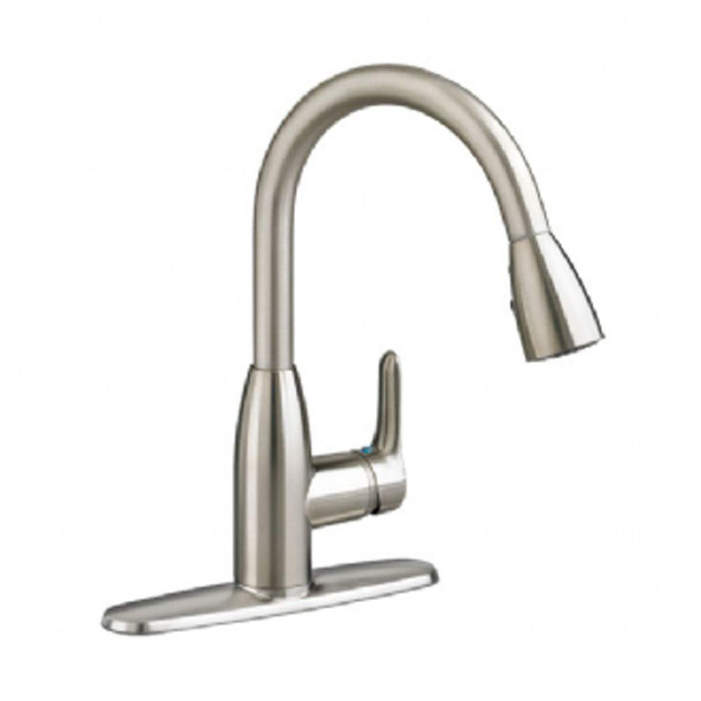 American Standard Colony Soft Single Handle Pull Down Sprayer Kitchen Faucet  In Stainless Steel 4175300F15.075   The Home Depot