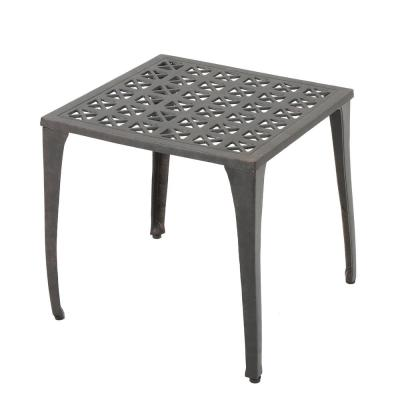 Eliseo Bronze Square Aluminum Outdoor Side Table