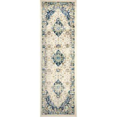 Vintage Ivory 26 in. x 19 ft. 1 in. Indoor Runner