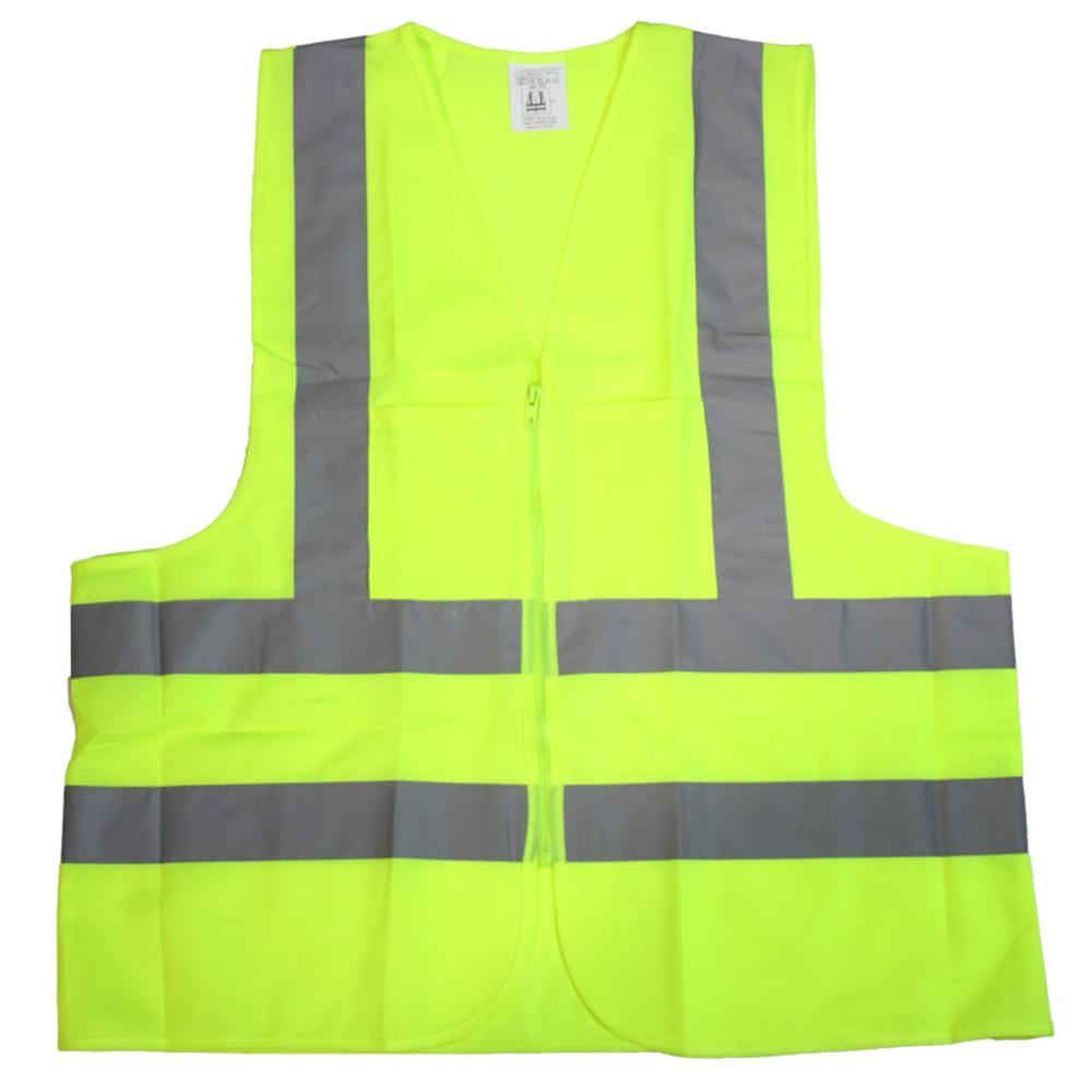 Smart Reflective Safety Vest Pockets Breathable Yellow Orange Mesh Vest Work Wear Safety Clothing Security & Protection