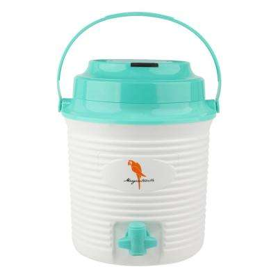 A Sip of Summer Bluetooth 1.3 Gal Wireless Plastic Bucket Cooler Speaker