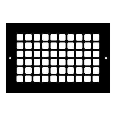 Square Series 10 in. x 6 in. Aluminum Grille, Black with Mounting Holes