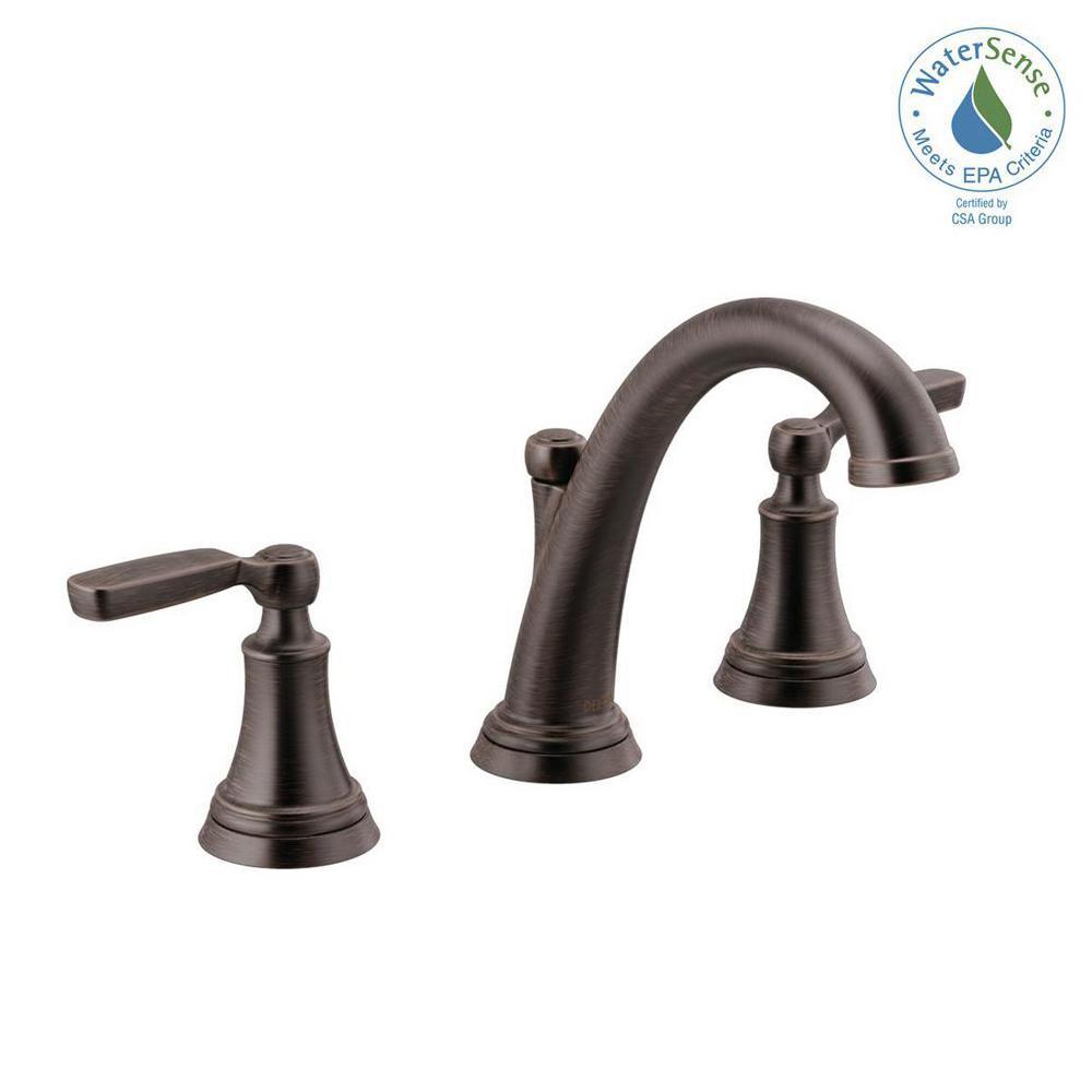 Delta Woodhurst 8 In Widespread 2 Handle Bathroom Faucet In