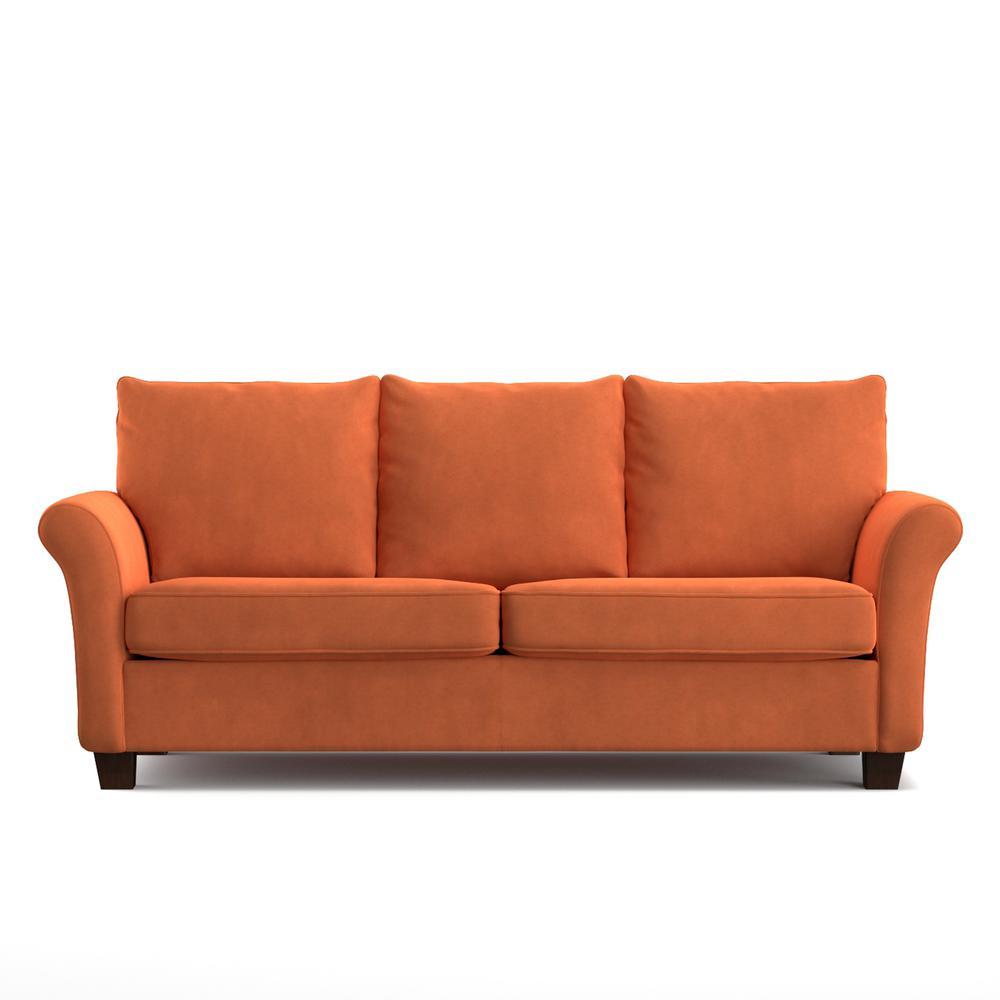 rockford sofast sofa in orange velvet - Orange Sofa