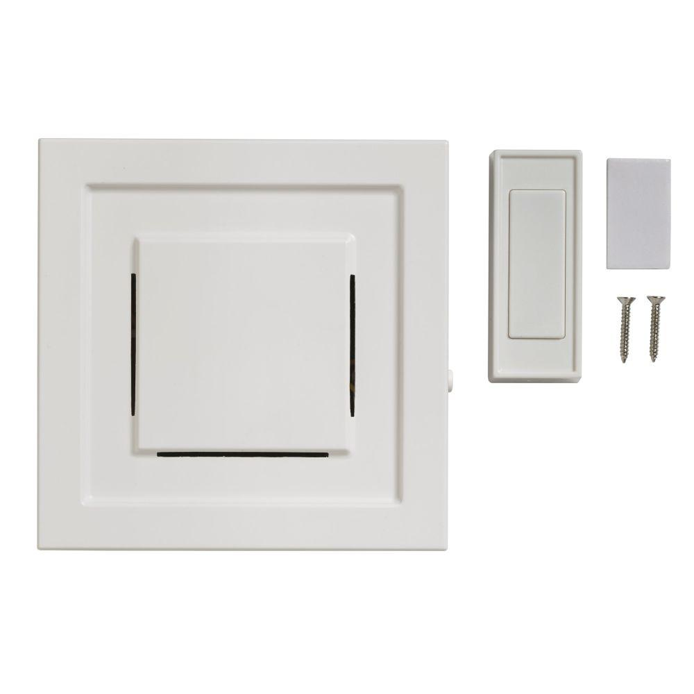 85 DB Wireless Plug In Door Bell Kit With 1 Push Button, White