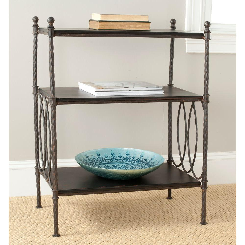 Safavieh William Distressed Brown End Table