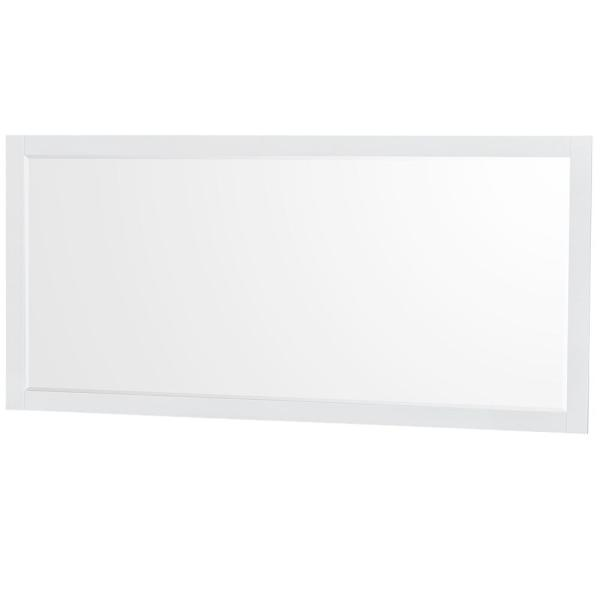 Sheffield 70 in. W x 33 in. H Framed Rectangular Bathroom Vanity Mirror in White