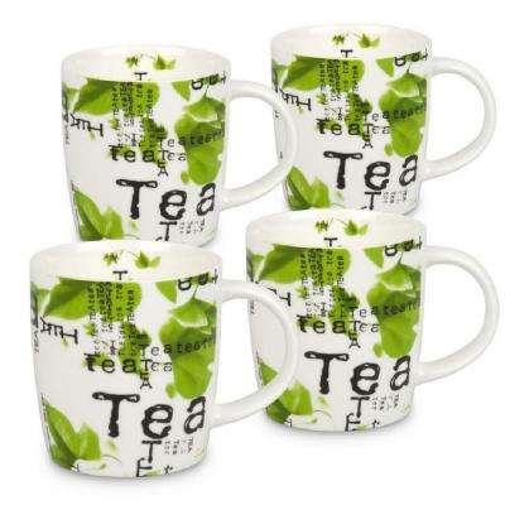 Konitz 4-Piece Tea Collage Bone China Mug Set