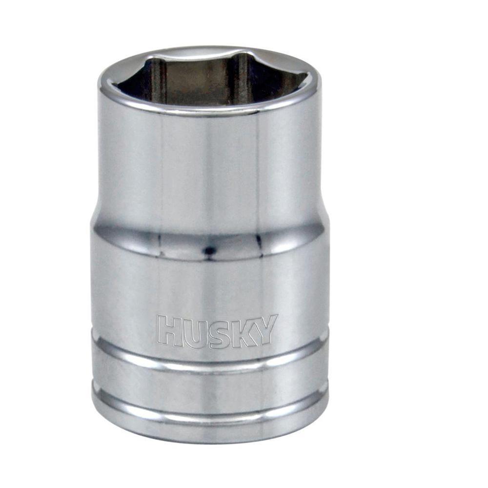 Husky 3/8 in. Drive 1/2 in. 6-Point SAE Standard Socket