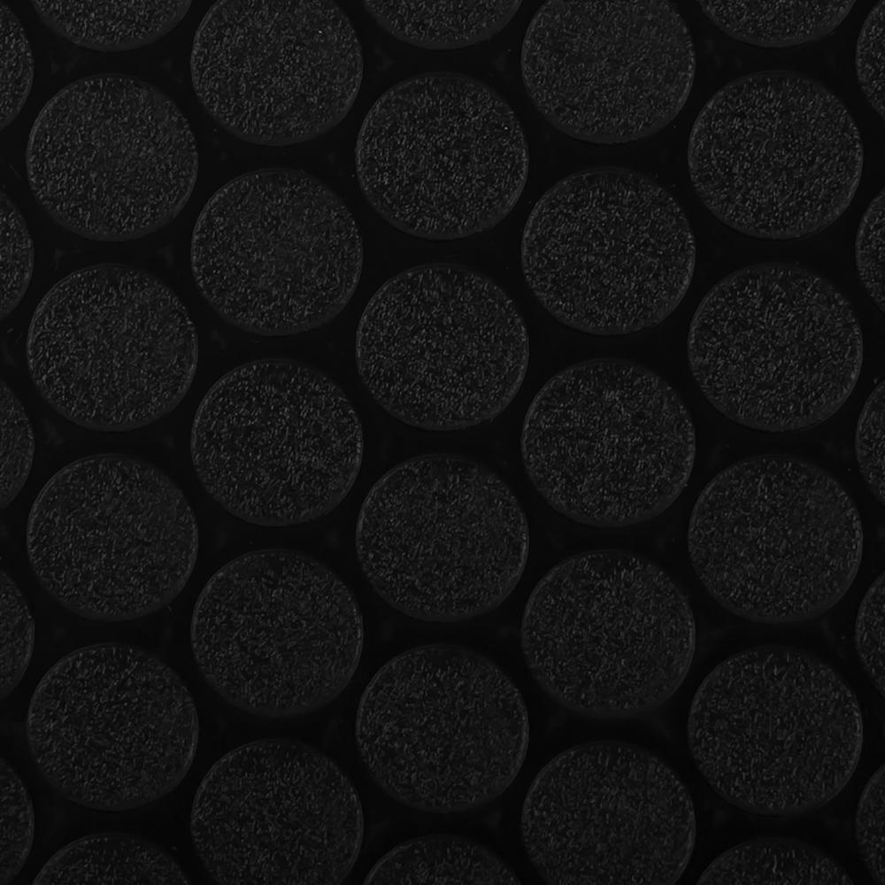 G-Floor Small Coin 7.5 ft. x 17 ft. Midnight Black Commercial Grade Vinyl Garage Flooring Cover and Protector