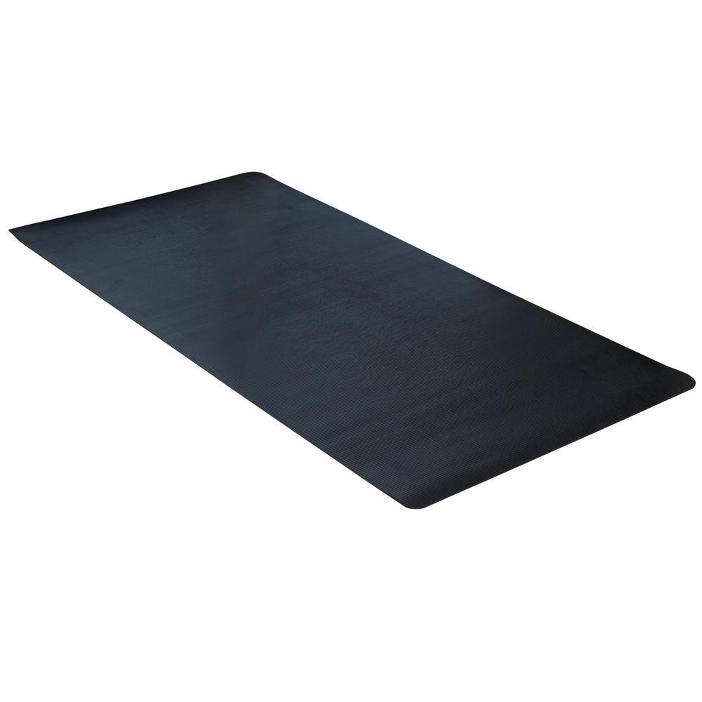 Indoor/Outdoor Black 36 in. x 240 in. Rubber Scraper Mat