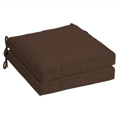 Chocolate Lamar Texture Outdoor Seat Cushion (Pack of 2)