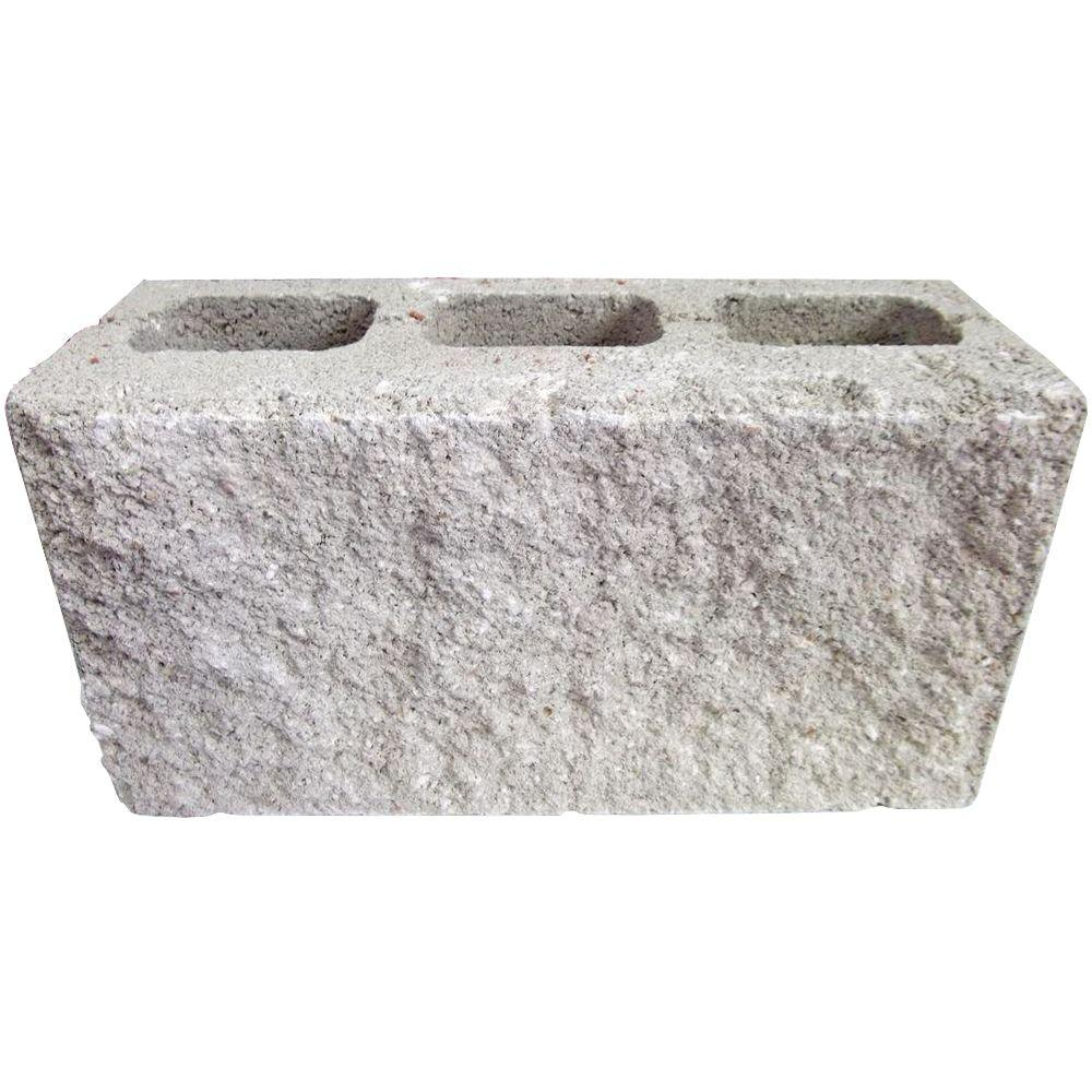 6 in. x 8 in. x 16 in. Natural Face Concrete