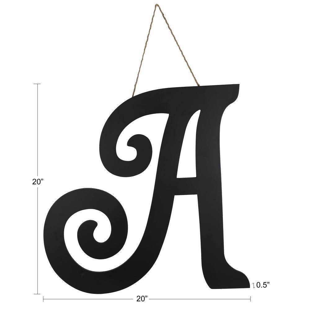Decorative Letter A.20 In Black A Script Letter