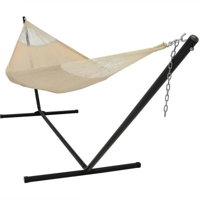 15 ft. Family Size Mayan Hammock Bed with Stand in Natural