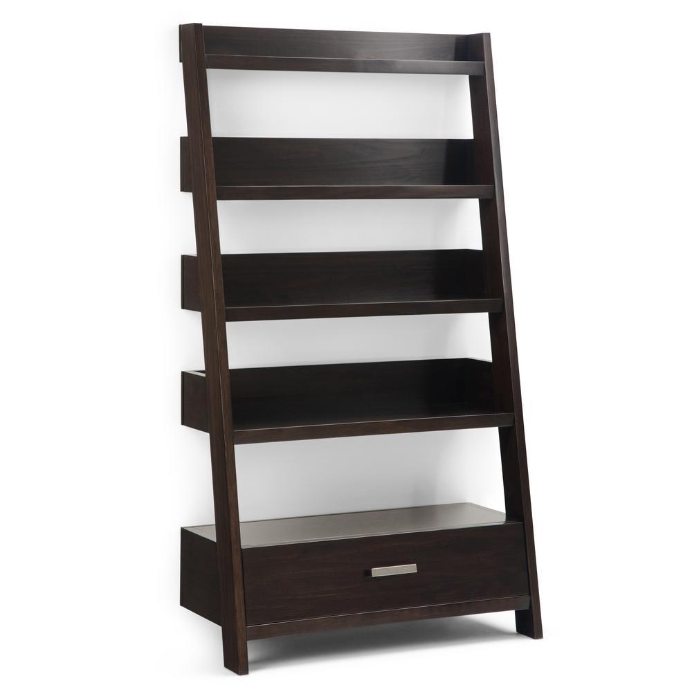 Deanna Dark Chestnut Brown Ladder Shelf