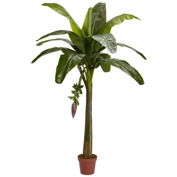 Real Touch 6 ft. Green Banana Silk Tree