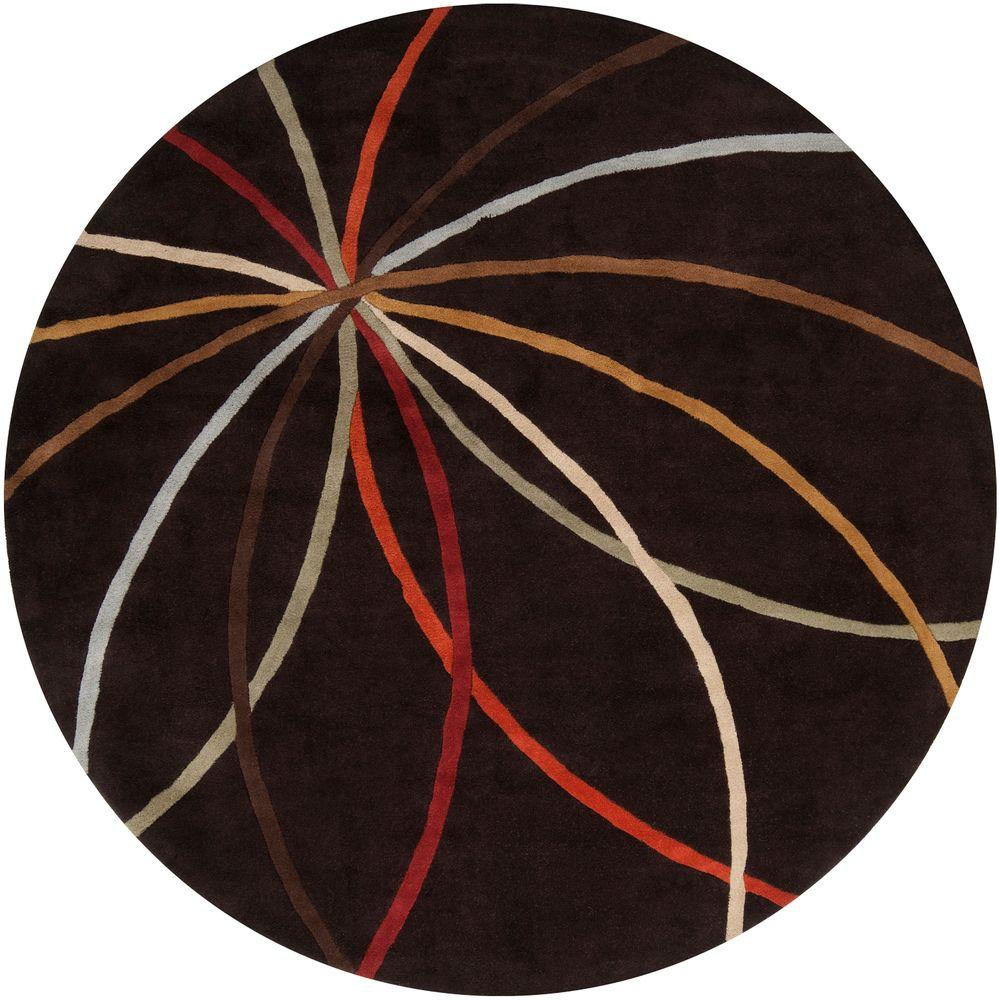 Hughson Chocolate 8 ft. Round Area Rug