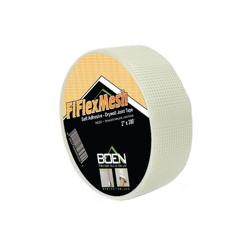 2 inch W x 300 ft. L Self-Adhesive FiFlex Fiberglass Mesh Drywall Joint Tape...