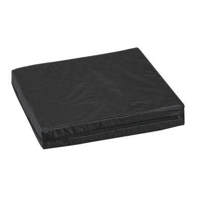 16 in. x 18 in. x 3 in. Pincore Cushion with Leatherette Cover in Black
