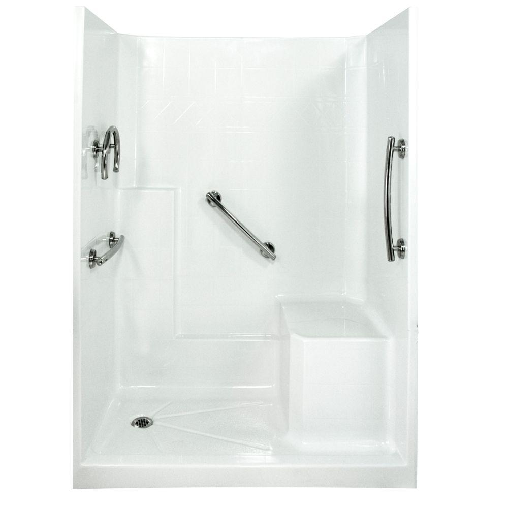 Ella freedom 33 in x 60 in x 77 in low threshold shower Walk in shower kits
