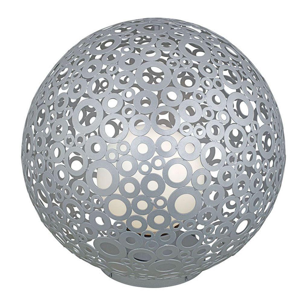 Eglo Ferroterra 18 in. 1-Light Silver Floor Lamp