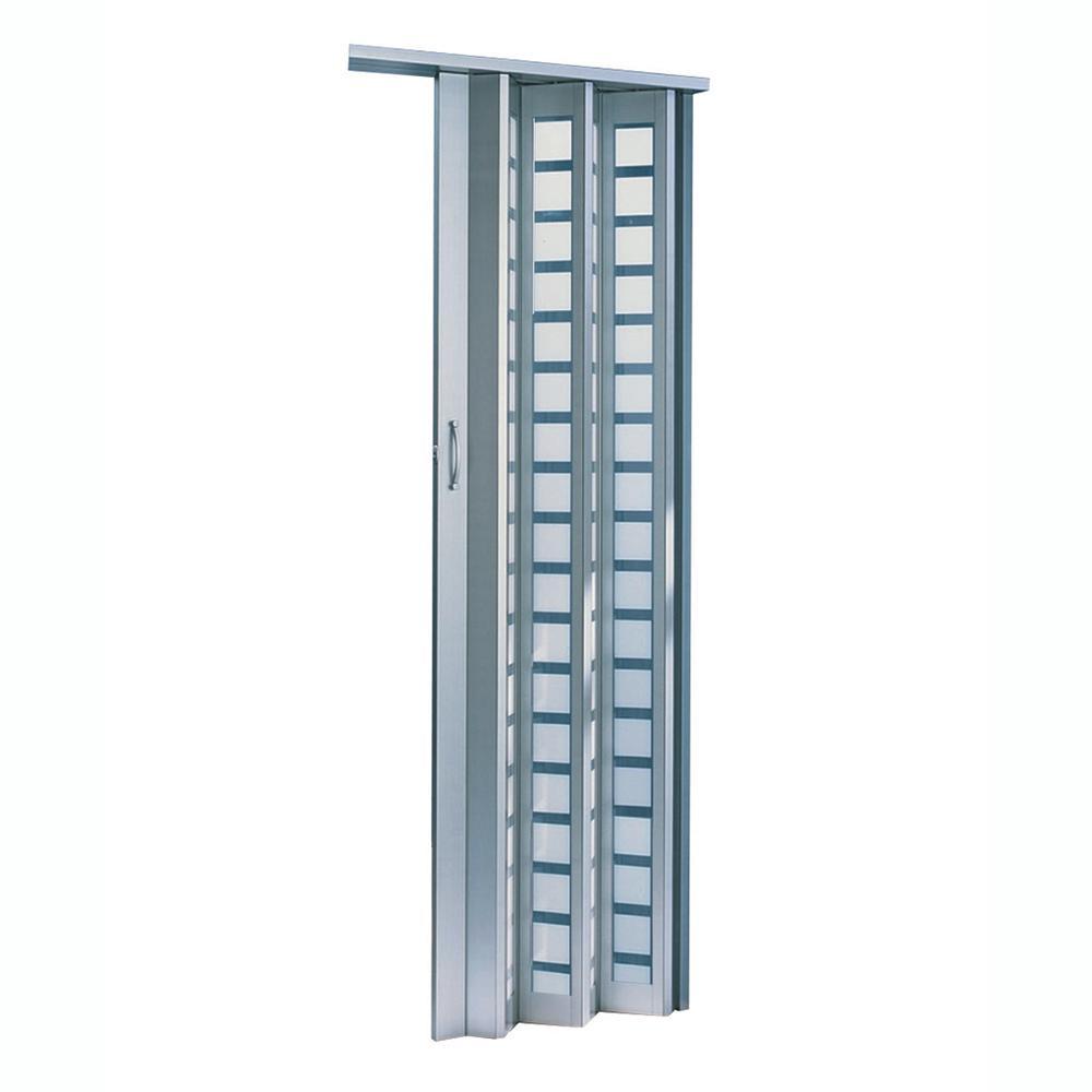 Century Aluminum Frosted Square Acrylic Accordion Door