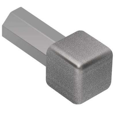 Quadec Pewter Textured Color-Coated Aluminum 3/8 in. x 1 in. Metal Inside/Outside Corner