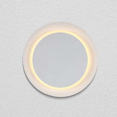 Eclipse 9.75 in. White Integrated LED Sconce