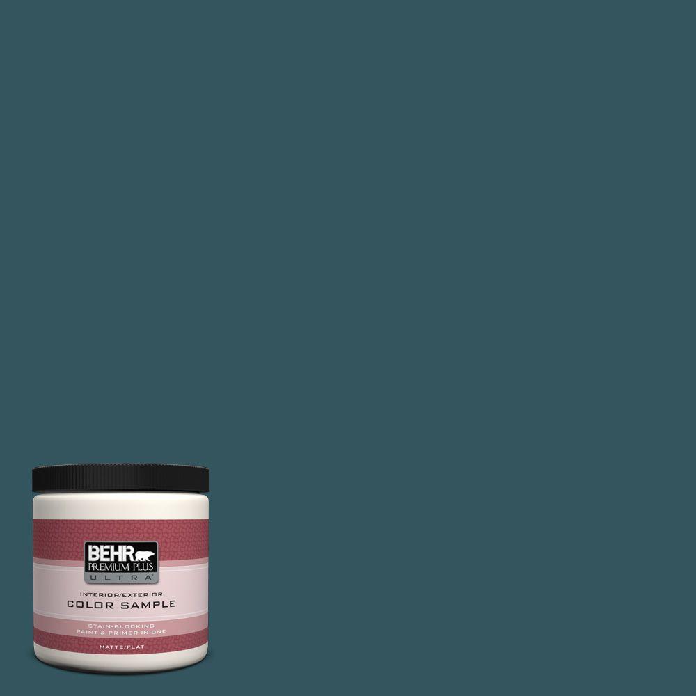 BEHR Premium Plus Ultra 8 oz. #520F-7 Kingfisher Interior/Exterior Paint Sample