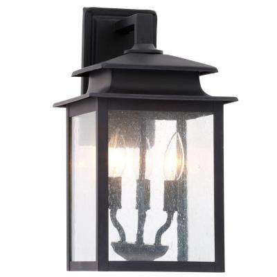 Sutton Collection 3-Light Rust Outdoor Wall Sconce