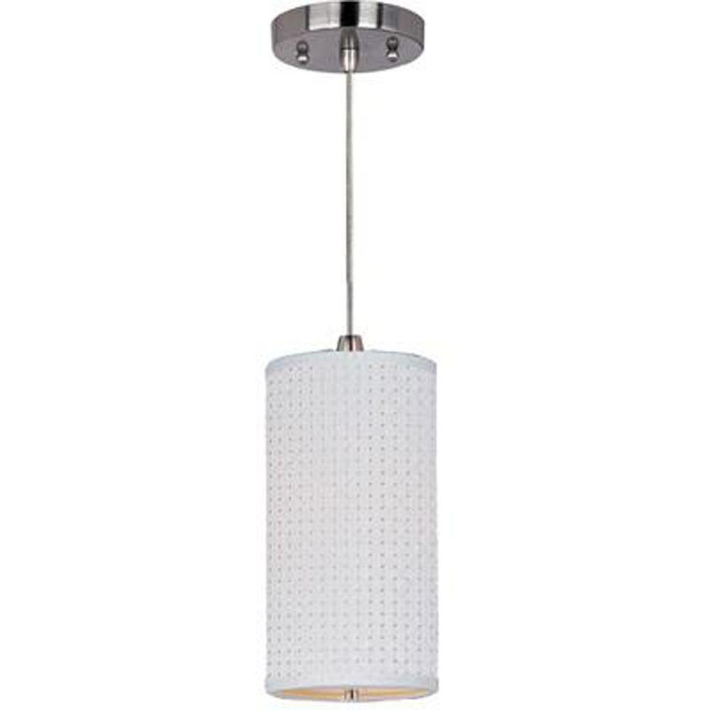 null Elements 1-Light Satin Nickel Pendant with Cord