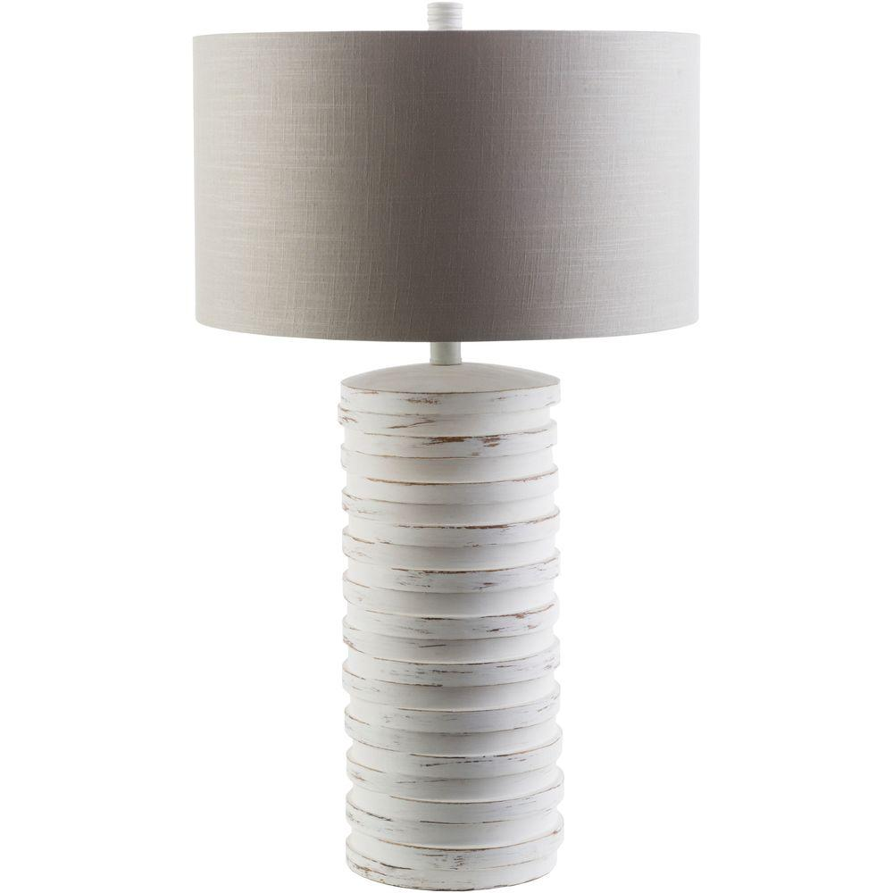 Seymour 28 in. White Indoor Table Lamp
