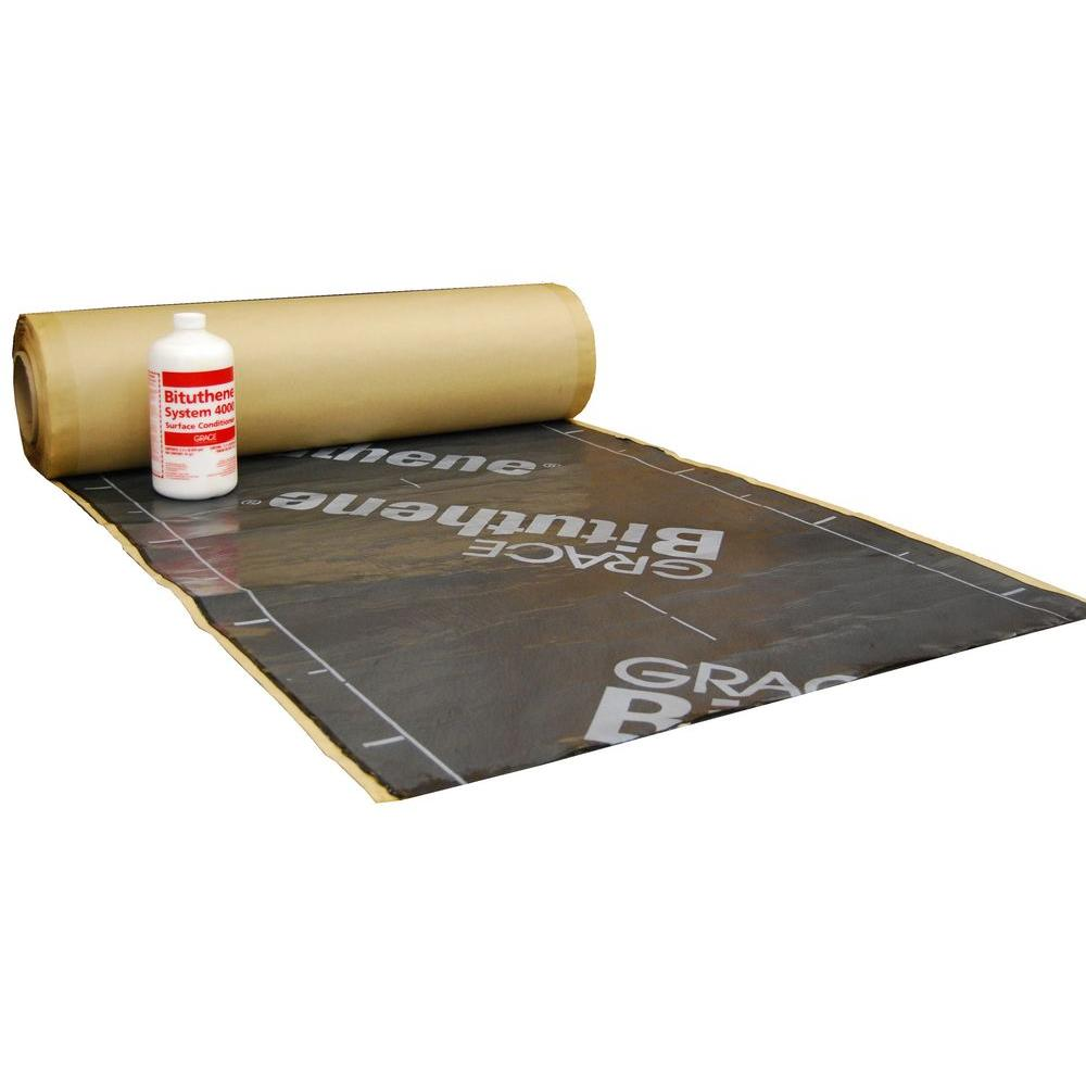 GCP Applied Technologies Bituthene System 200 sq  ft  Waterproof Membrane  and Conditioner