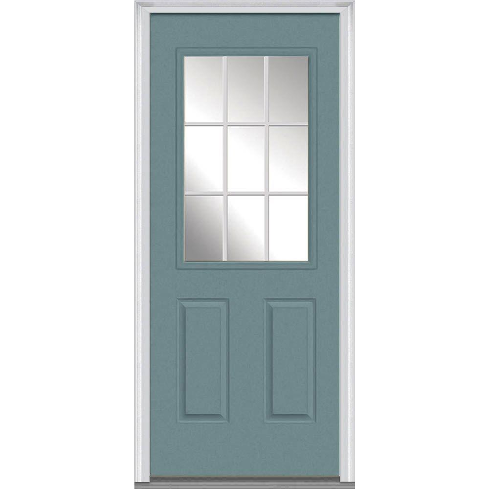 Mmi Door 30 In X 80 In Grilles Between Glass Left Hand Inswing 12