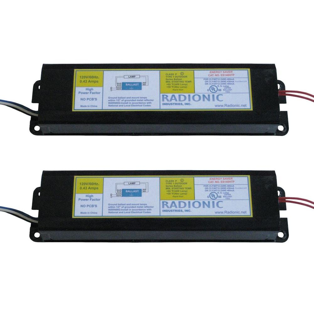 High Power Factor Ballast for 1 F34/40T12 Lamp (2-Pack)