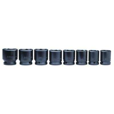3/4 in. Drive Impact Socket Set