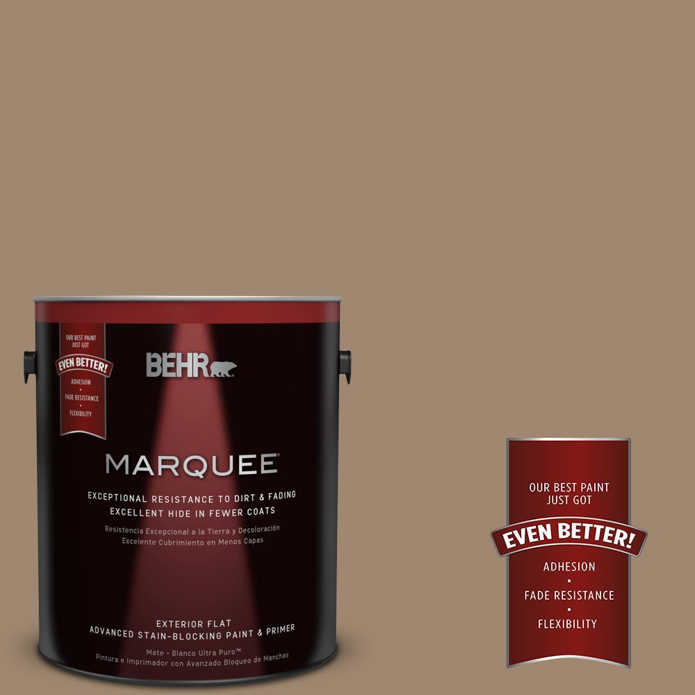 1-gal. #700D-5 Toffee Crunch Flat Exterior Paint