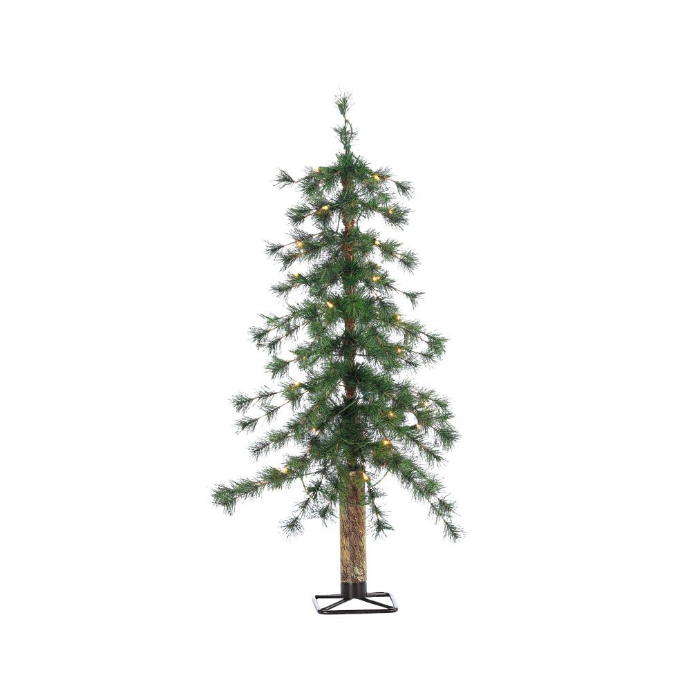 Sterling 3 Ft Pre Lit Hard Needle Alpine Artificial Christmas Tree