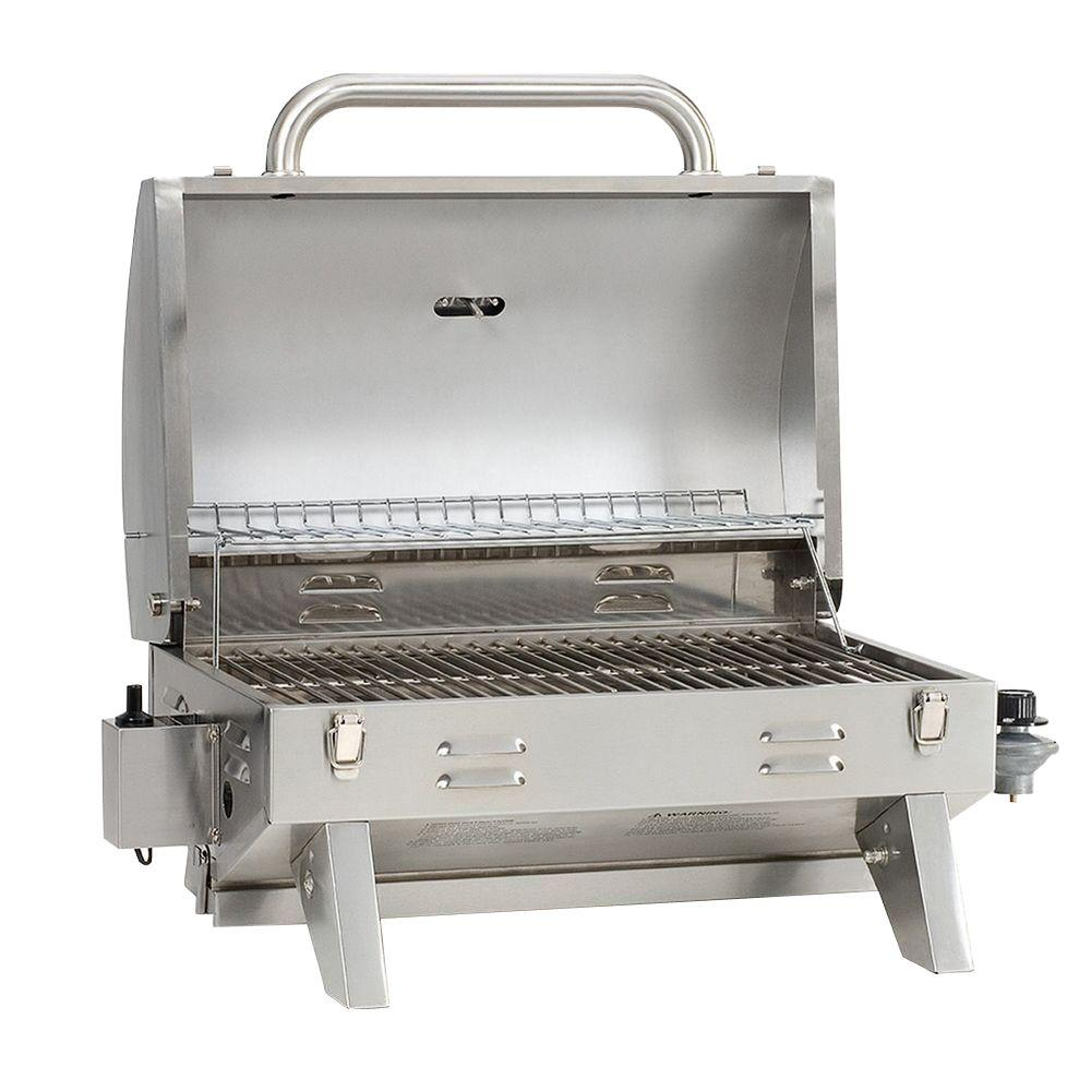 Table Top Gas Grill Camping Portable Stainless Steel Outdoor Cooking Bbq Boat Rv Ebay