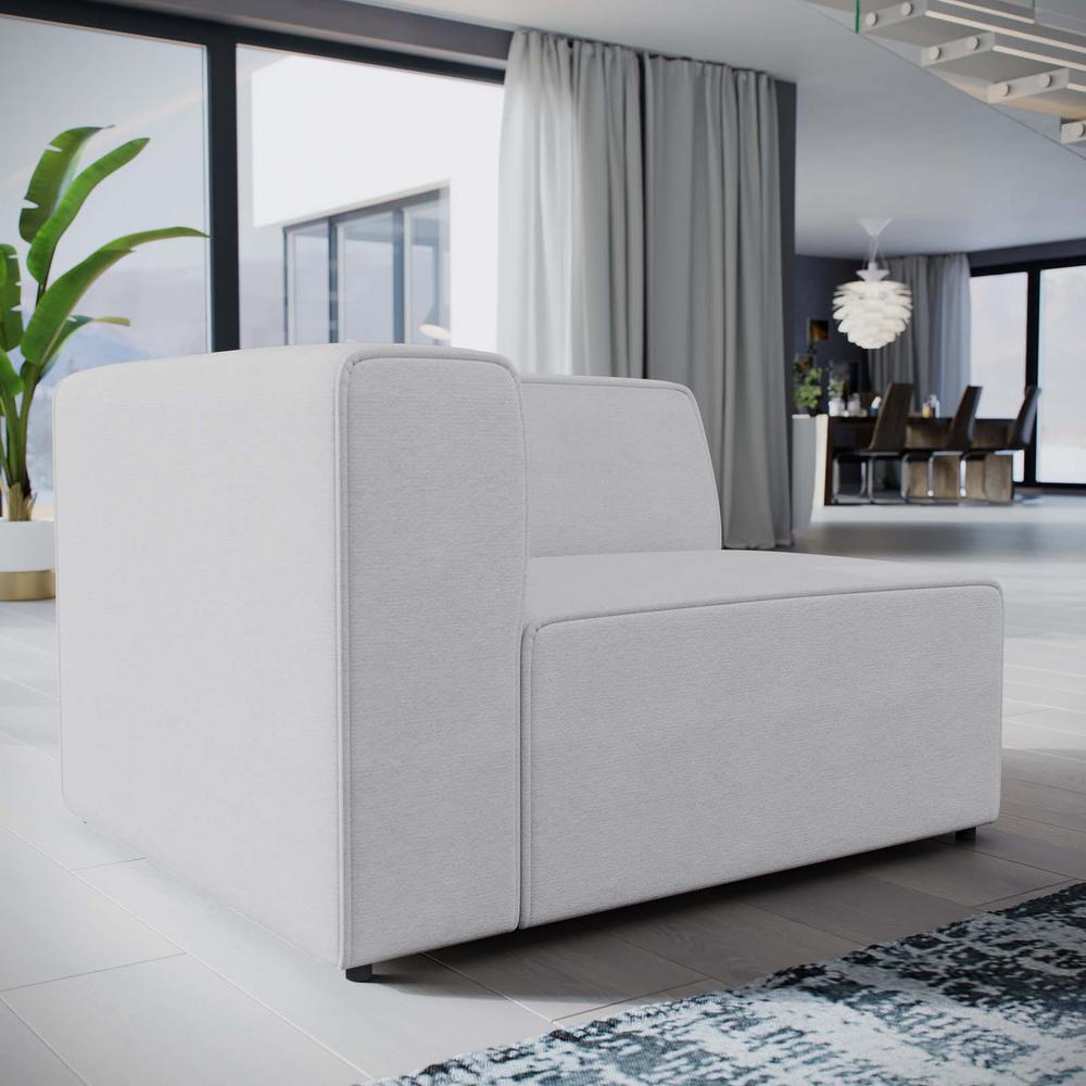 Mingle White Fabric Left-Facing Sofa