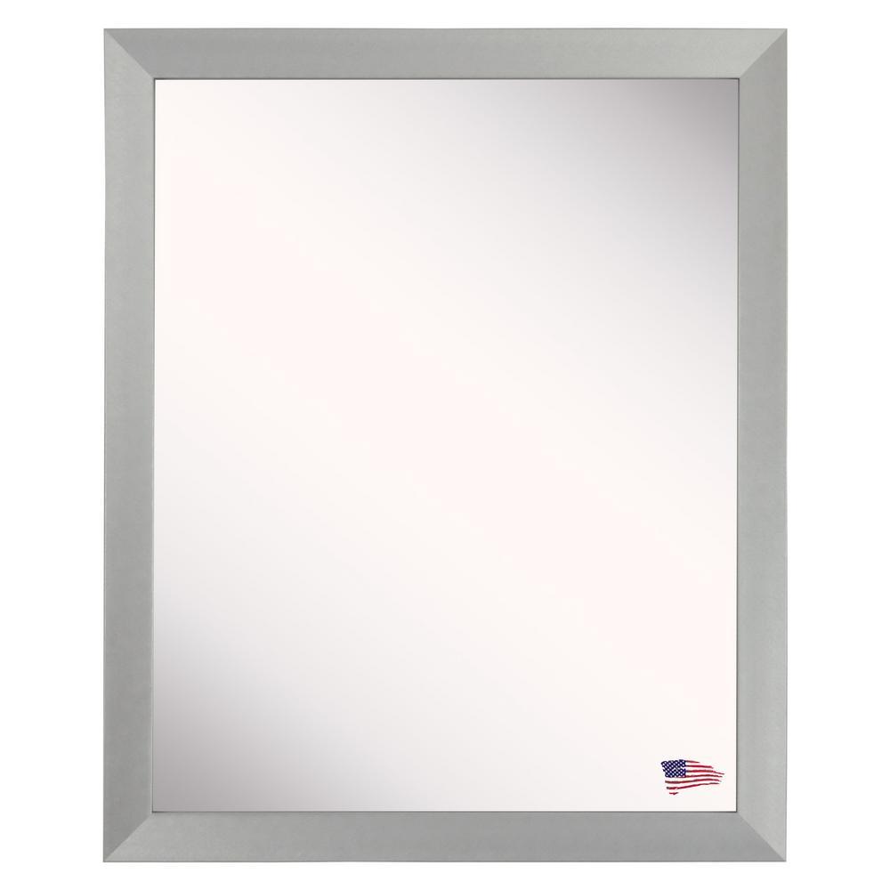 43 in. x 31 in. Juliet Soft Silver Wall Vanity Mirror