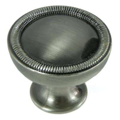 1-1/4 in. Satin Antique Nickel Vanilla Border Knob
