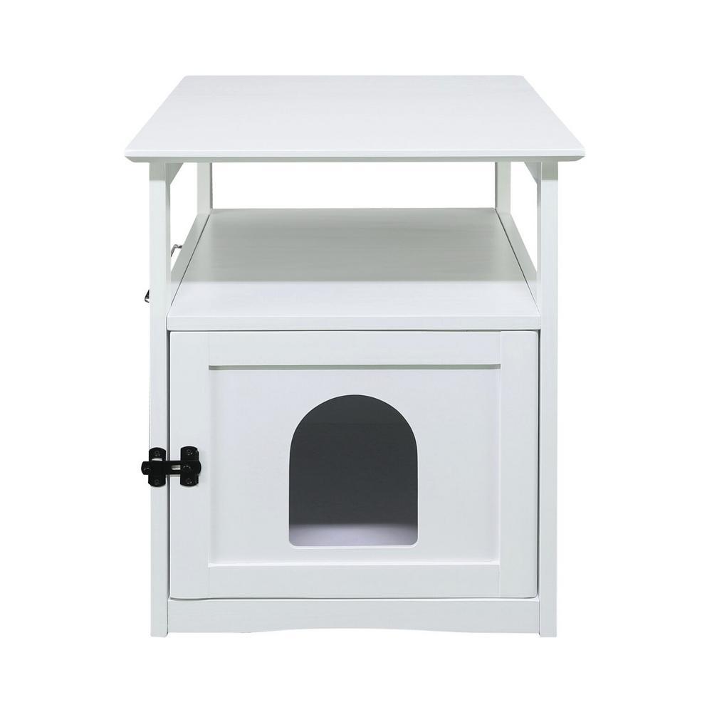 Aristo White Wooden Pet House End Table
