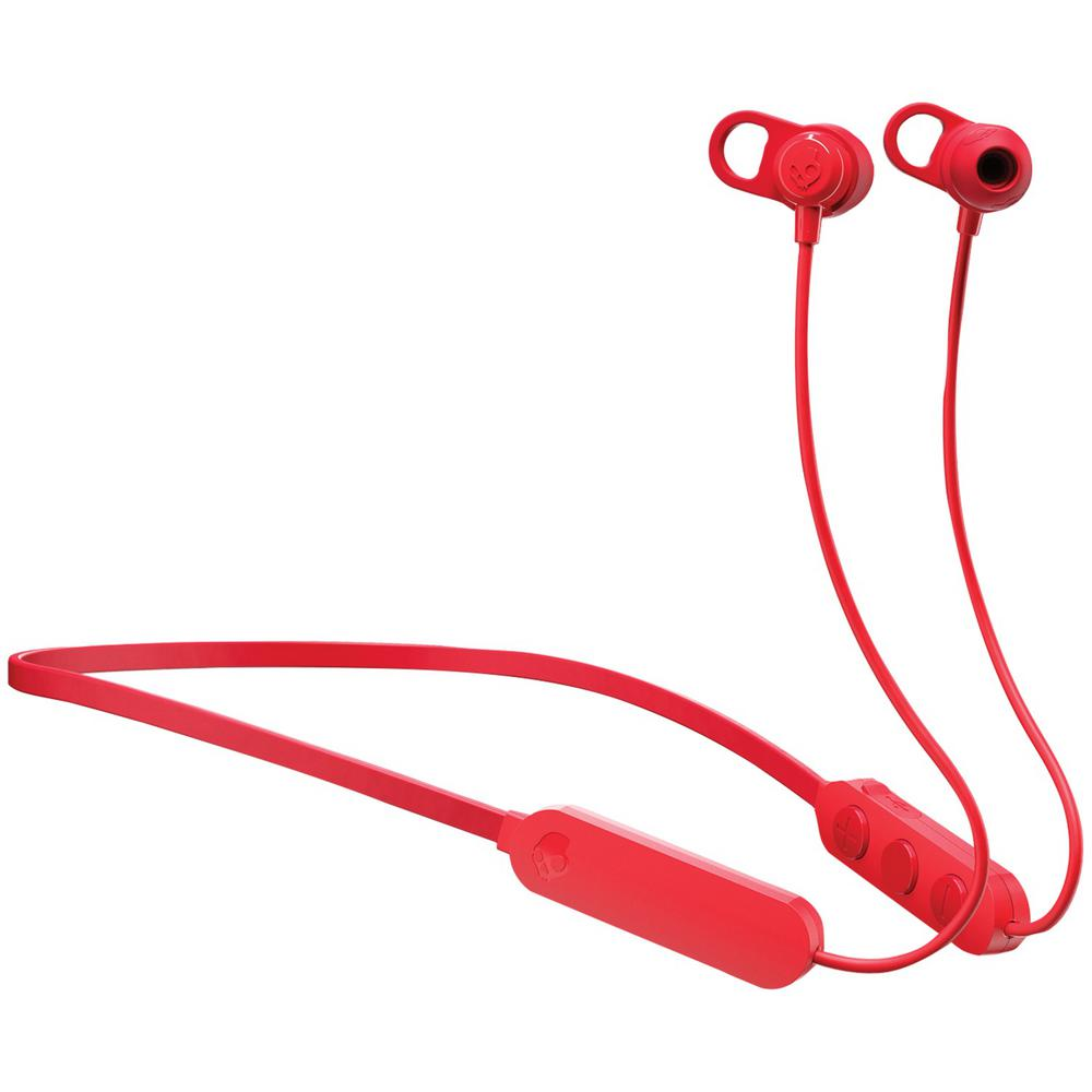 Skullcandy Jib Wireless In Ear Earbuds With Microphone In Black And Red S2jpw M010 The Home Depot