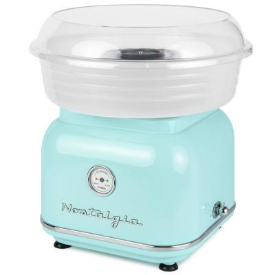Retro Aqua Electric Cotton Candy Maker with 2-Reusable Cotton Candy Cones