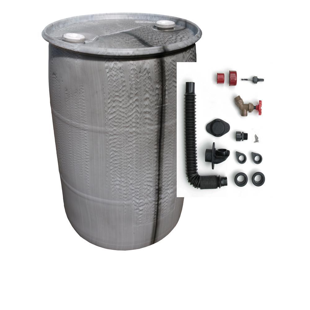 UGLY 55 Gal. Off-Color DIY Rain Barrel Bundle with Diverter System