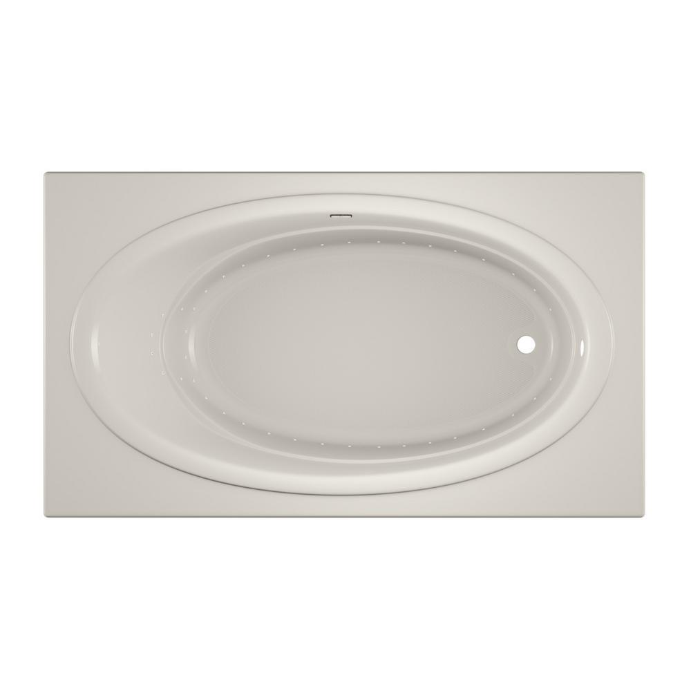 NOVA PURE AIR 72 in. x 42 in. Acrylic Right-Hand Drain Rectangular Drop-In Air Bath Bathtub in Oyster