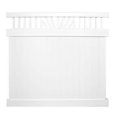 Annapolis 7 ft. x 8 ft. White Vinyl Privacy Fence Panel Kit