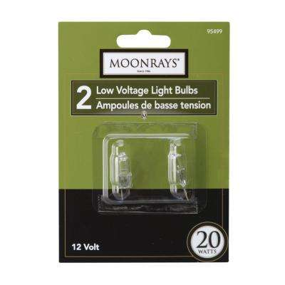 20-Watt Clear Glass G4 Bi-Pin Halogen Replacement Light Bulb (2-Pack)